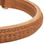 2 Ply Soft Braided Leather Dog Choke Collar for Rottweiler