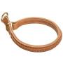 Handmade Braided Leather Dog Choke Collar Rottweiler Training