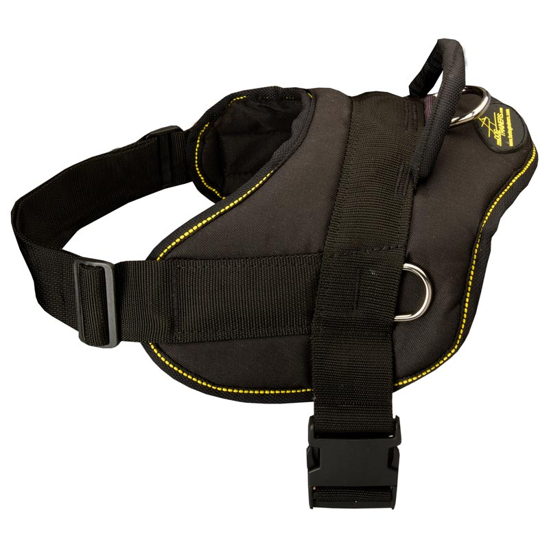 Nylon Multipurpose Rottweiler Harness for Tracking, Training and Pulling