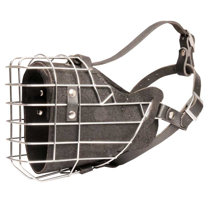 Fully Padded Extra Strong Wire Cage Rottweiler Muzzle for Agitation Training